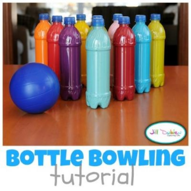 Colorful Bowling Set DIY {Bowling}