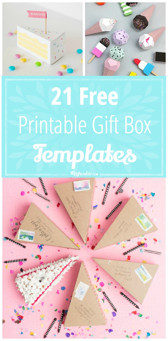 21 Free Printable Gift Box Templates-png