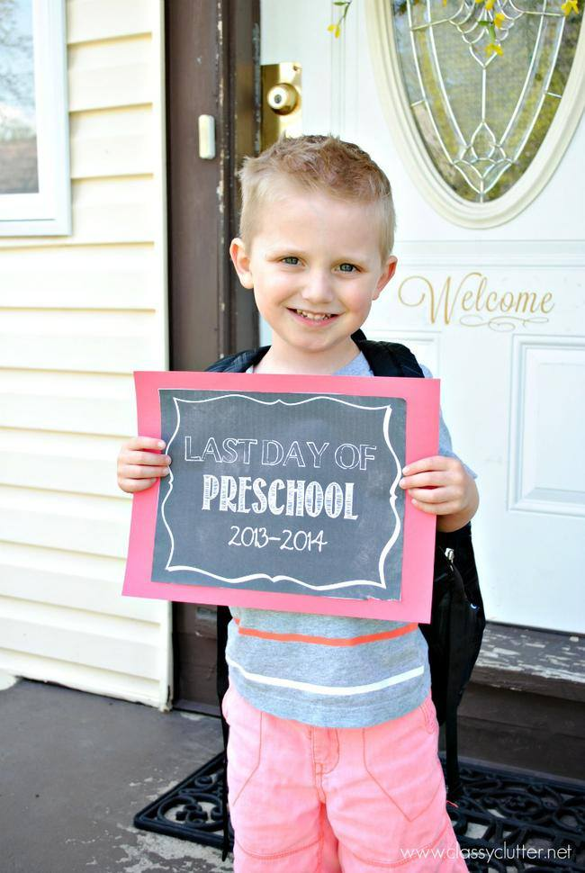 Last Day of School {free printables}