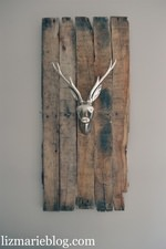 DIY Deer Head Pallet