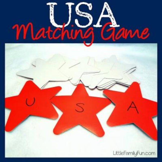 Patriotic Matching Game {Patriotic Games}