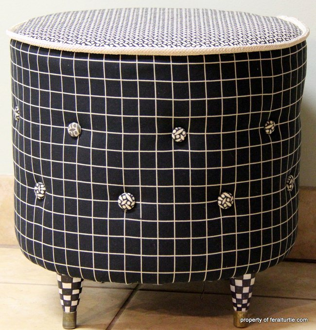 Make A Sonotube Foot Stool