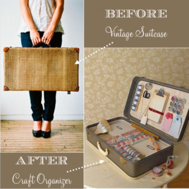 DIY Craft Storage Ideas {organize} {repurpose}