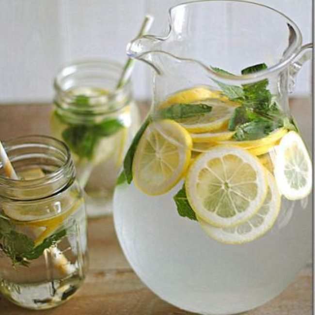 Lemon Water with Fresh Mint {Health Habits}