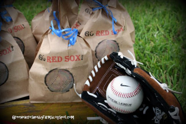 Baseball Team Snack Favor Bags