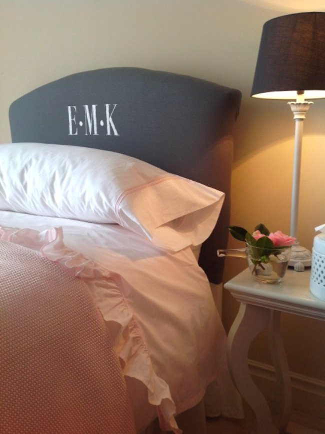 Pottery Barn Inspired Monogrammed Headboard