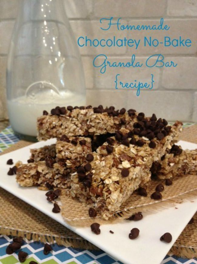 Homemade Chocolatey No-Bake Granola Bars