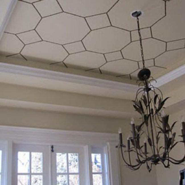 Nailhead Ceiling Treatment {tutorial}