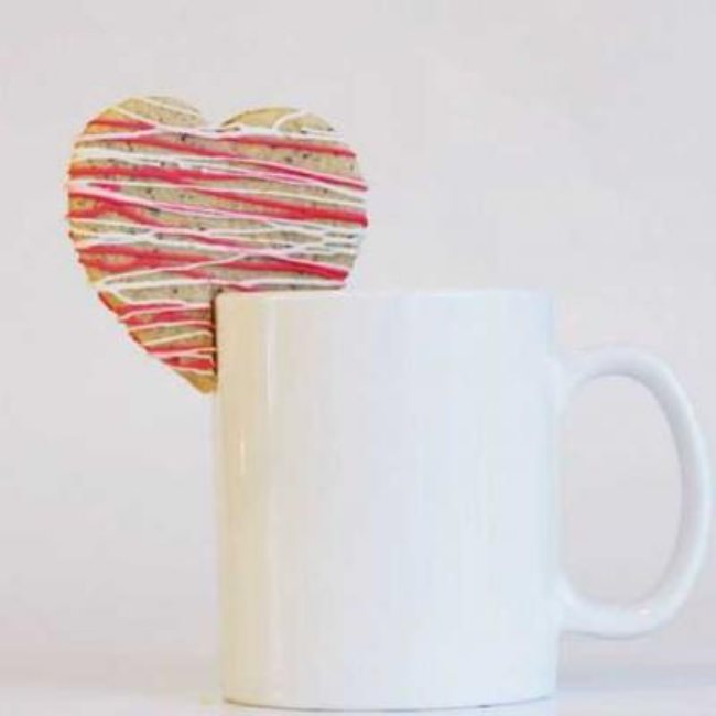 Valentine's Day Coffee Sugar Cookies