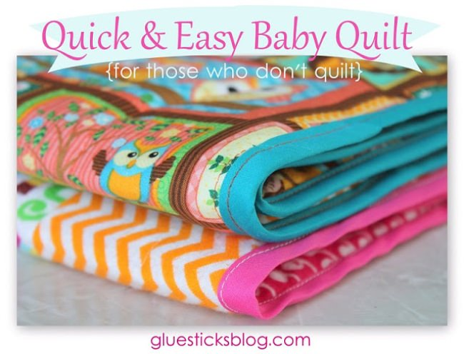 Quick and Easy Baby Quilt Tutorial