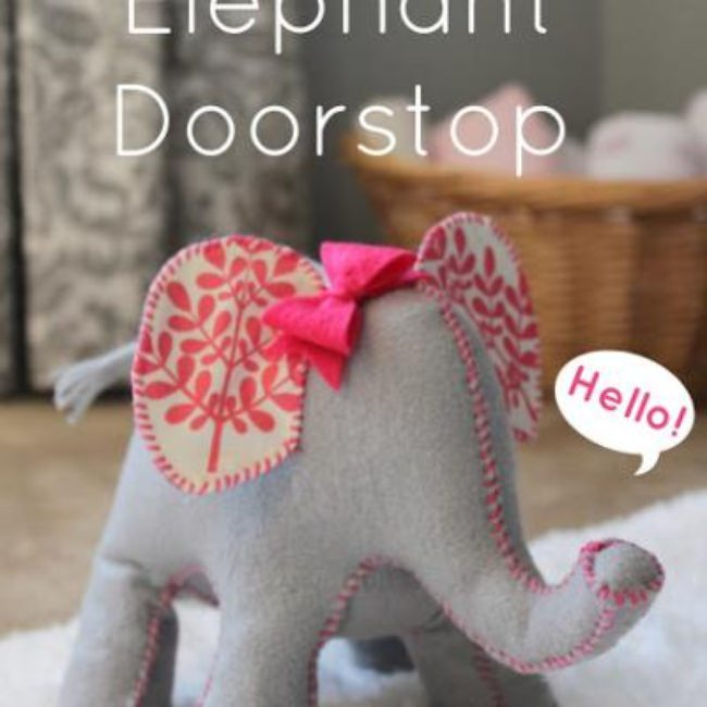 Cute Elephant Door Stop {Home Accessories}