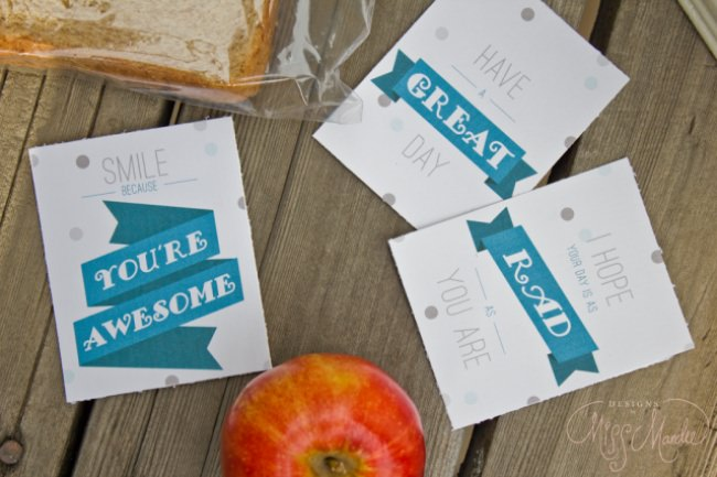 Lunch Box Notes {free printables}