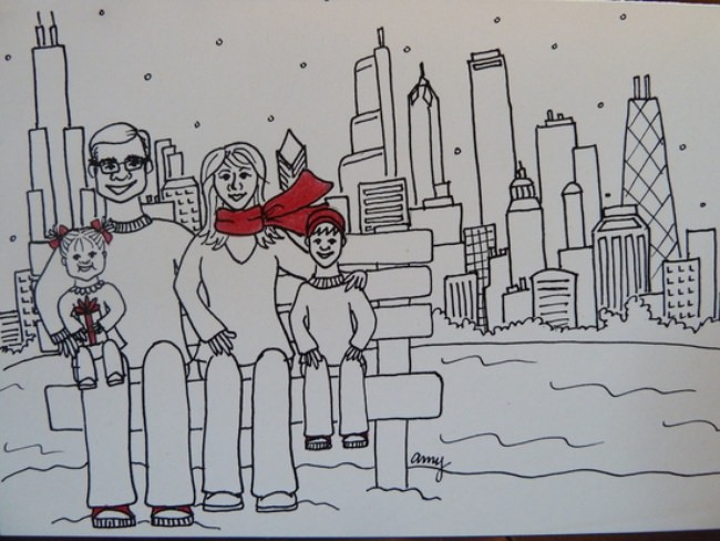 Hand Illustrated Christmas Card