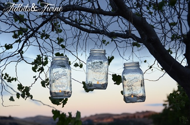 Easy DIY Mason Jar Manicure Kit & Lantern Gift