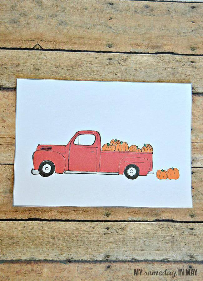 Pickup and Pumpkins Printable