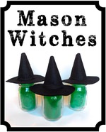 DIY Mason Jar Witches!