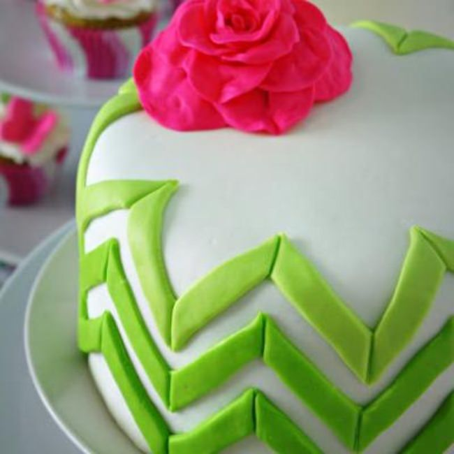 Ombre Chevron Cake Tutorial {Birthday Cake}