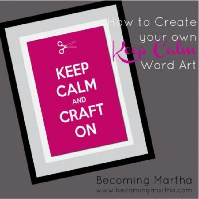 DIY Keep Calm Poster Maker