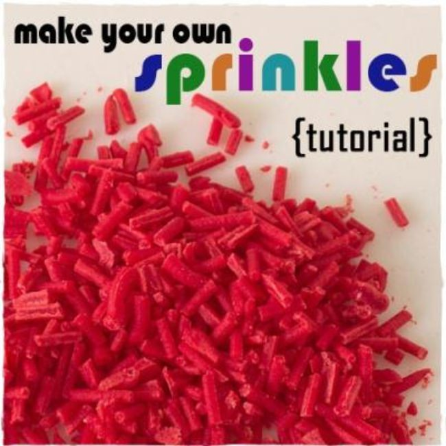 Homemade Sprinkles {tutorial}