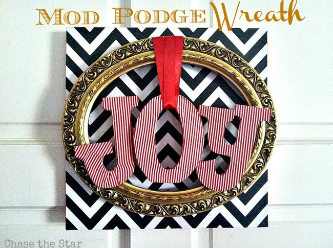 Mod Podge Christmas Wreath