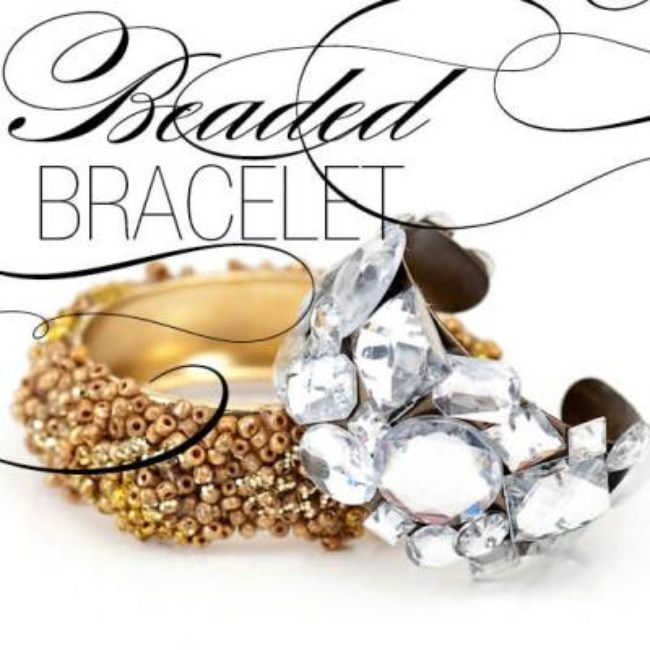 DIY Jeweled or Beaded Bracelet {Bead}