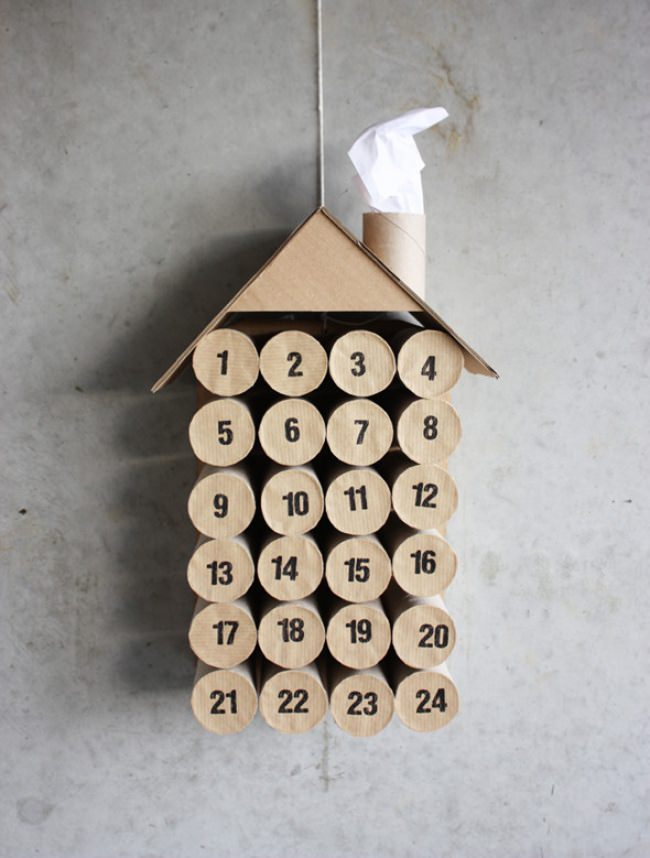 DIY Toilet Paper Roll Christmas Countdown