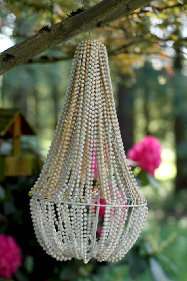 How to Create a Beaded Chandelier {diy light}