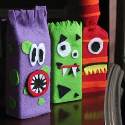 Juice Box Monsters {Halloween Activities for Children}