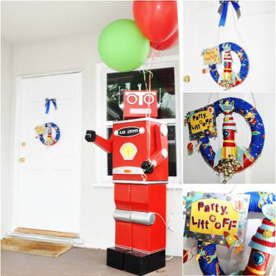Robot and Rockets Birthday Party