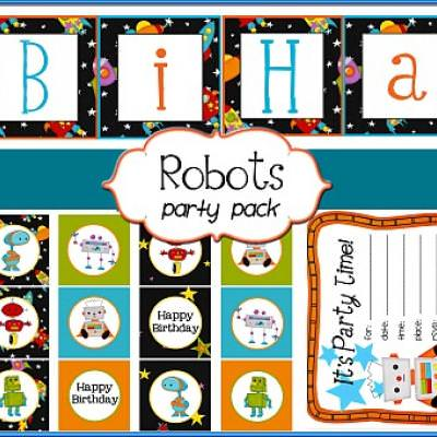 picture regarding Robot Printable known as Robotic Themed Birthday Social gathering Printables Totally free Suggestion Junkie