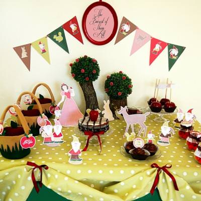 Snow White Inspired Birthday Party