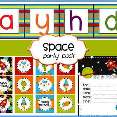 photograph about Space Printable named Totally free Area Themed Get together Printables with birthday banner