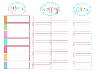 Printable Grocery Lists Free Vegetarian Grocery List Template