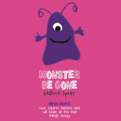 Monster Spray Printable Labels