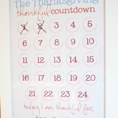 graphic about Countdown Calendar Printable titled Printable Thanksgiving Countdown Calendar Thanksgiving