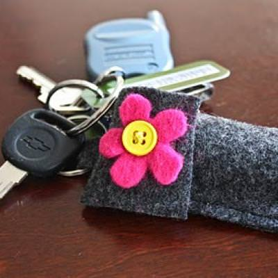 Chapstick Holder Keyring {Kids Sewing}