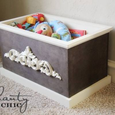 Chic Wood Toy Box DIY {Decorative Boxes}