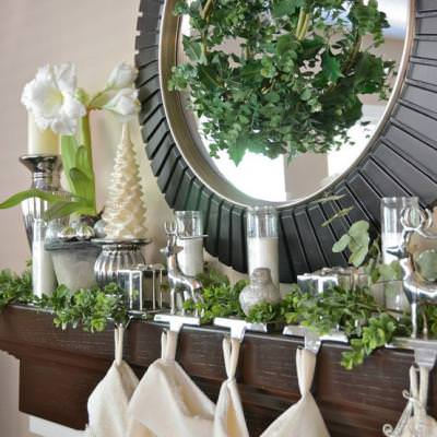 Christmas Mantel {Holiday Mantel Ideas}