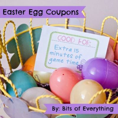 image relating to Egg Coupons Printable known as Easter Egg Discount coupons Easter Printable Suggestion Junkie