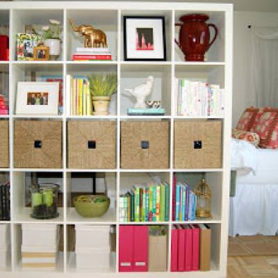 Bookshelf Room Divider expedit bookshelf room divider {room dividers} | tip junkie