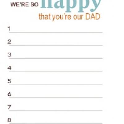 image relating to Father's Day Fill in the Blank Printable named Fathers Working day Estimate and Fill within just the Blank Printables