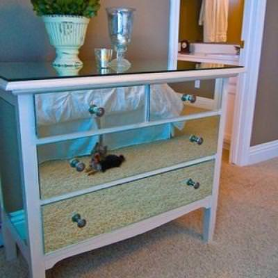 Mirrored Dresser DIY {Chests and Dressers}