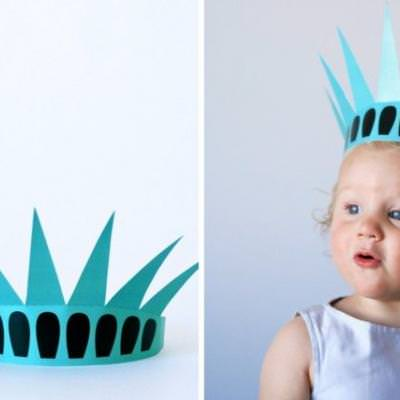 image regarding Printable Statue of Liberty Template identified as Printable Statue of Freedom Crown Patriotic Printables