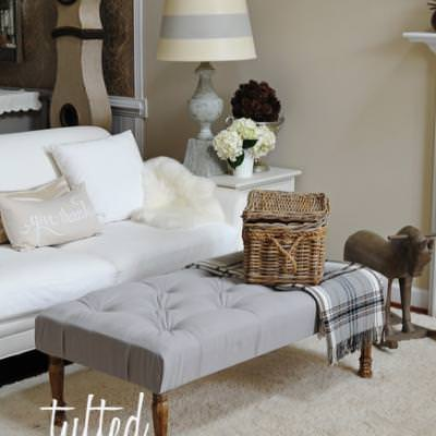 Tufted Ottoman Tutorial {Benches}
